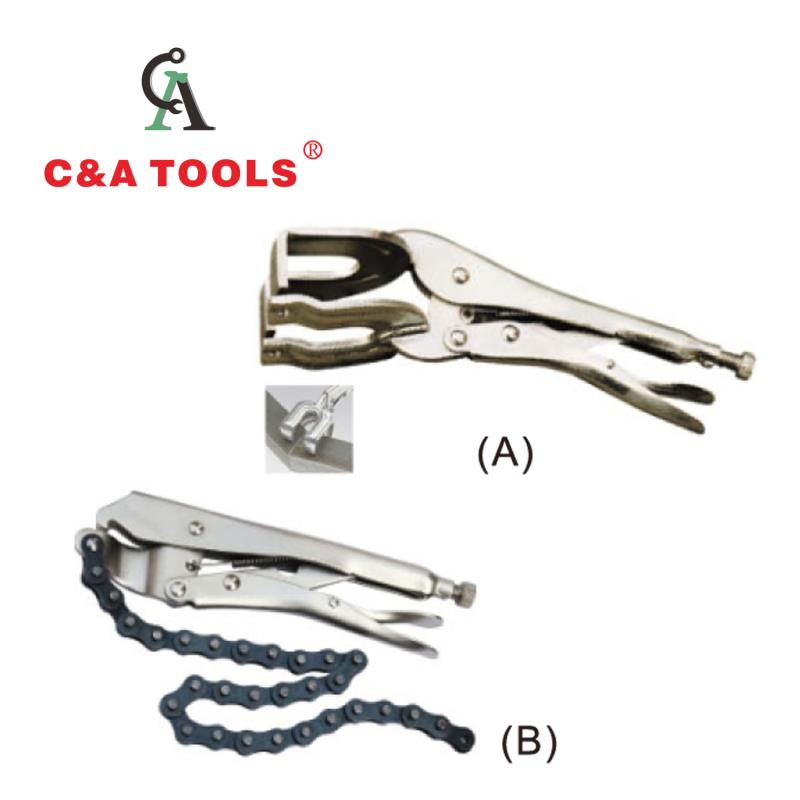 Locking Pliers (A:R-4 TYPE; B:Machine TYPE)