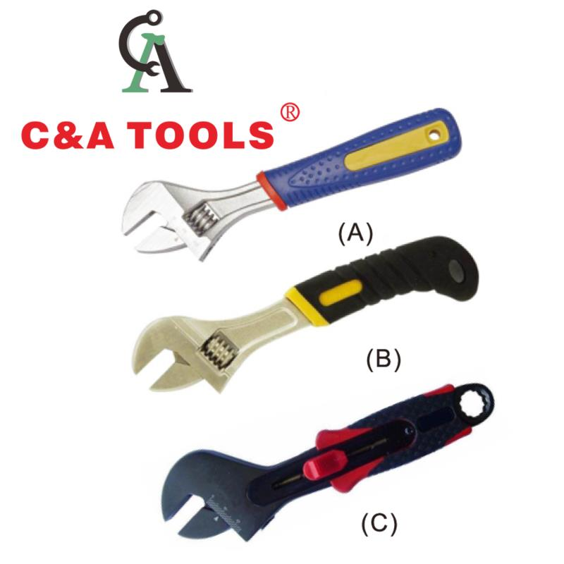 Adjustable Wrench with Plastic Handle
