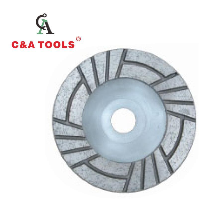 Impressed Slot Cup Wheel-Aluminum Back