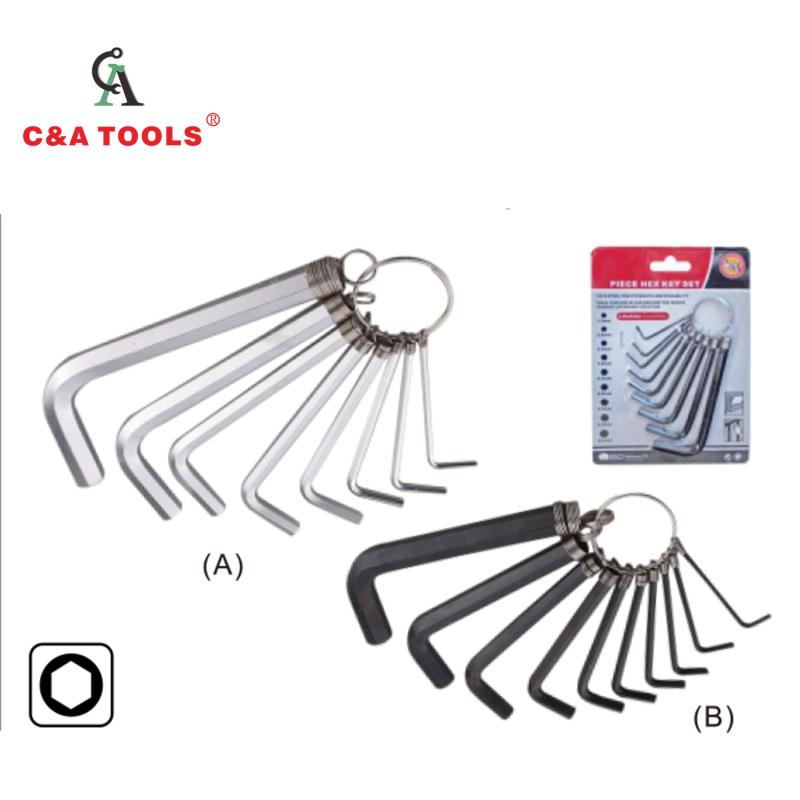 10PC Elastic Ring Hex Key Wrench Set